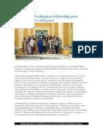 O Mandela Washington Fellowship Para Jovens Líderes Africanos