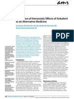 1 Evaluation of Hemostatic Effects of Ankaferd as an Alternative Medicine