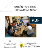 Encuentro 15 La Edificación Espiritual en La Pequeña Comunidad Corregido