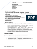 Plan de estudios de Botánica General