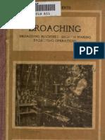 Broaching Machines-broach Making Broaching Operations