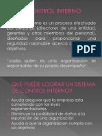 Diapositiva de Control Interno