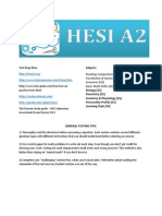 HESI A2 Info Page for Students