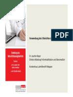 06 Dr.j.beyerkh Ludmillenstift_verwendung Des E-berichts Fr Nachbehandler