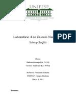 Laboratório 4 de Cálculo Numérico