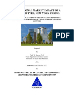 Market Impact of a Proposed Tyre, New York Casino on Turning Stone