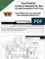 8475-3A Gardner Denver PZ-7 5000PSI