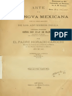 Carochi, Horacio. [1862] 1645 Arte de La Lengua Mexica