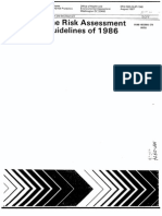 The Risk Assessment Guidelines of 1986