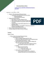 International Finance I Notes