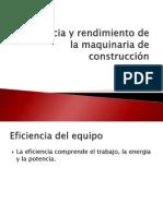 Eficiencia y Rendimiento de La Maquinaria de Construcción