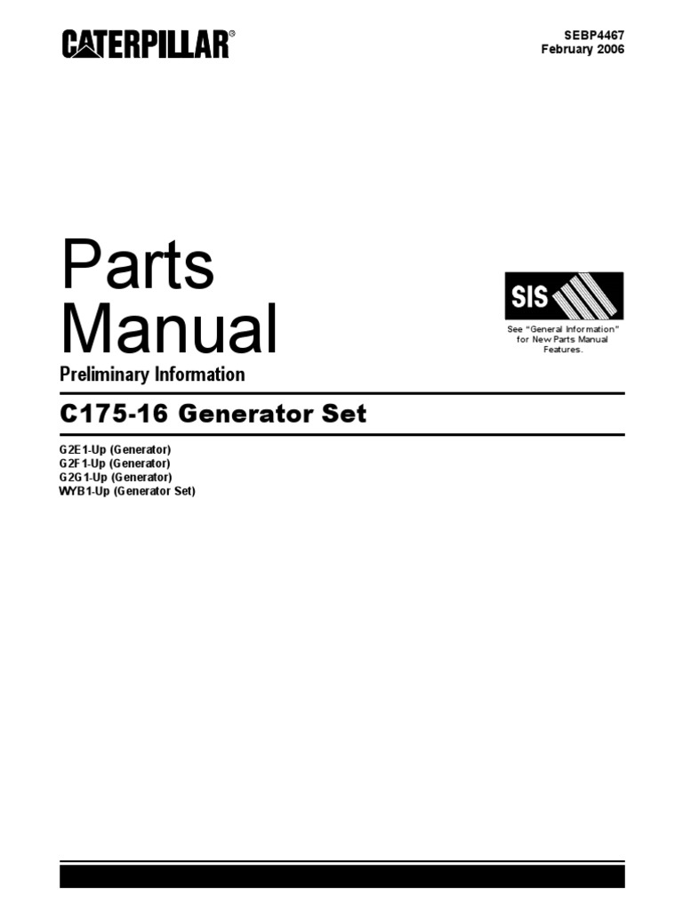 ALL Parts Manual CAT C175