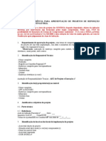 Termo de Referencia Projeto de Reposicao Florestal Compensatoria