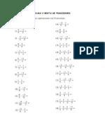 Suma y Resta Fracciones 1