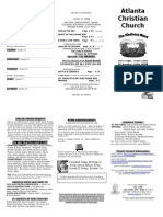 October 12, 2014 Trifold Bulletin