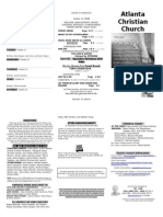 October 19, 2014 Trifold Bulletin