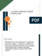 Materi Operasi Dasar Komputer
