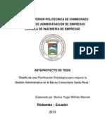 Anteproyecto de Tesis Banco Comunitario