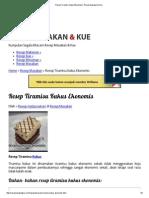 Resep Tiramisu Kukus Ekonomis _ Resep Masakan & Kue