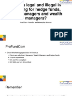 What is Legal and Illegal in Emailing for Hedge Funds Asset Managers and Wealth Managers