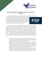 Declaración Izquierda Autónoma UC