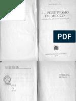 Leopoldo Zea El Positivismo en Mexico Nacimiento Apogeo y Decadencia