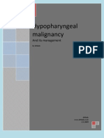 Hypo Pharyngeal Malignancy