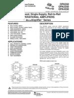 Datasheet OPA2350PA