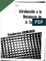 Introduccion a La Metalurgia de La Soldadura