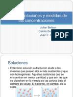 Tipos de Soluciones y Medidas de Las Concentraciones