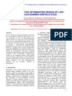 Multi-objective Optimization Design of Lowreynolds-number Airfoils s1223-479