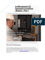 Maintenance Management of Electrical Equipment