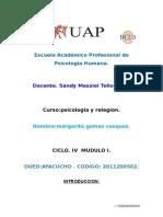 116846958 Trabajo Psicologia y Religion Uap