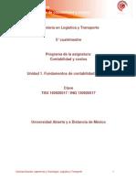 Unidad 1. Fundamentos de Contabilidad de Costos