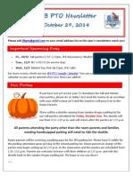 JFB PTO Newsletter 10-29-14
