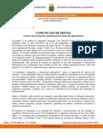 Comunicado de Prensa - Presupuestos Participativos