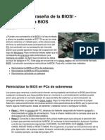 Olvide La Contrasena de La Bios Reinicializar La Bios 119 La6zg5
