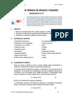 Dilatacion Termica en Solidos y Liquidos