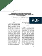Pengaruh interval dan lama perendaman terhadap pertumbuhan dan pendewasaan embrio somatik tanaman sagu (Metroxylon sagu Rottb.)