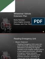 wheelchair vehicle extension plan