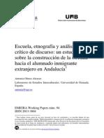 Escuela, Etnografía y Análisis Crítico de Discurso…