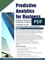 Predictive Analytics Workshop