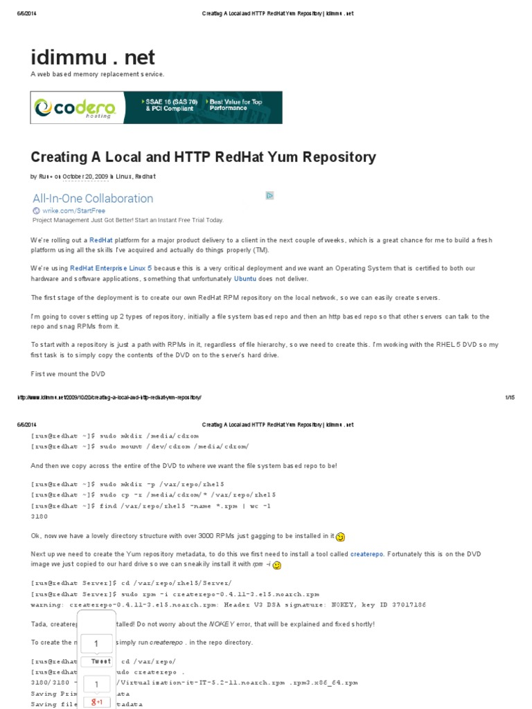 Creating a Local and HTTP RedHat Yum Repository _ Idimmu