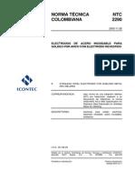 NTC 2290 Electrodos revestidos para soldadura de aceros inoxidables..pdf