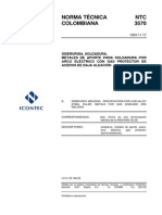 NTC 3570 Metal de aporte para soldadura de aceros de baja aleación por arco eléctrico con gas de protección.pdf