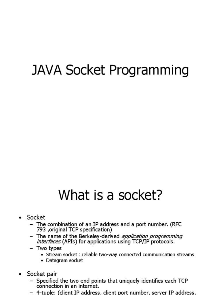 19 Java Socket Programming | Port (Computer Networking) | Network Socket