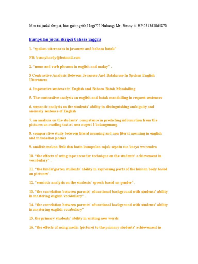Contoh Background Skripsi Bahasa Inggris Tentang Writing Kumpulan Berbagai Skripsi