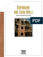 Design of Diaphram & Shear Walls