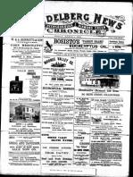 Heidelberg News March 1900