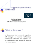 Business Opportunity Identification and Selection